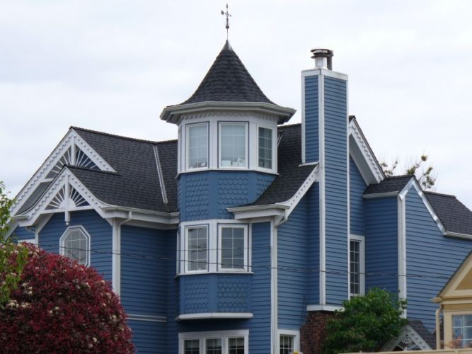 Victorian Home In Seattle With New Asphalt Roof