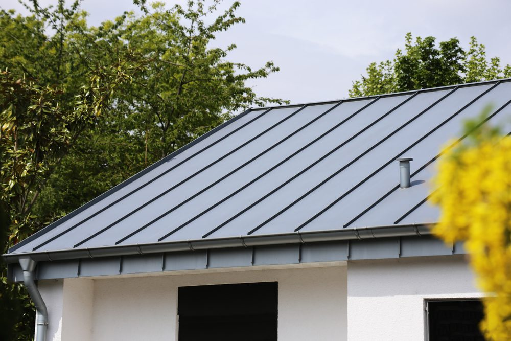 Close Up Of Metal Roof
