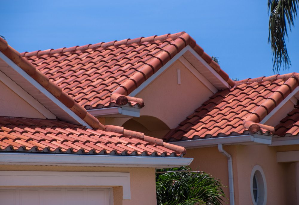 home with clay tiled roof