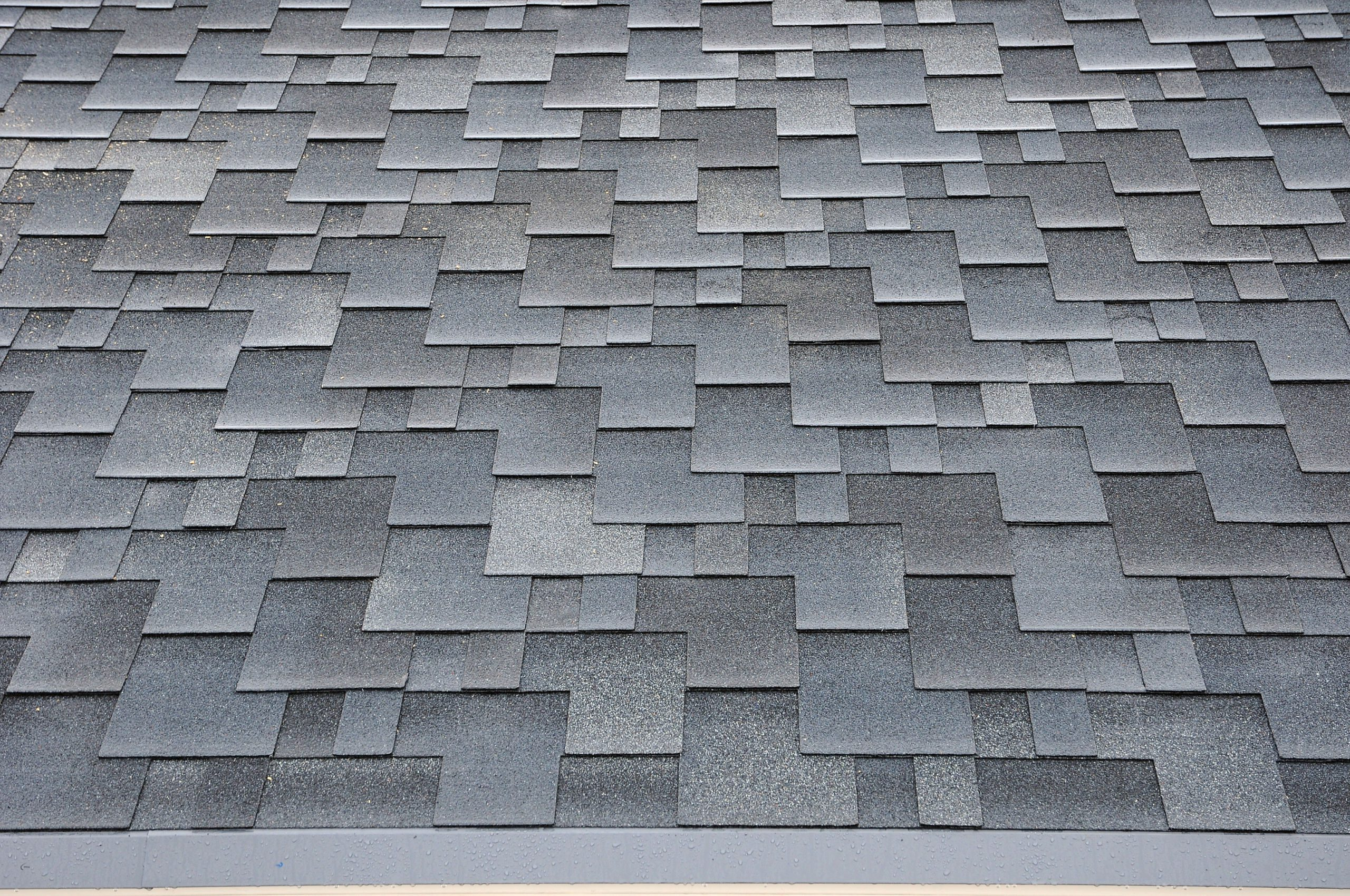 Close Up Recycled Eco Friendly Roofing Shingles