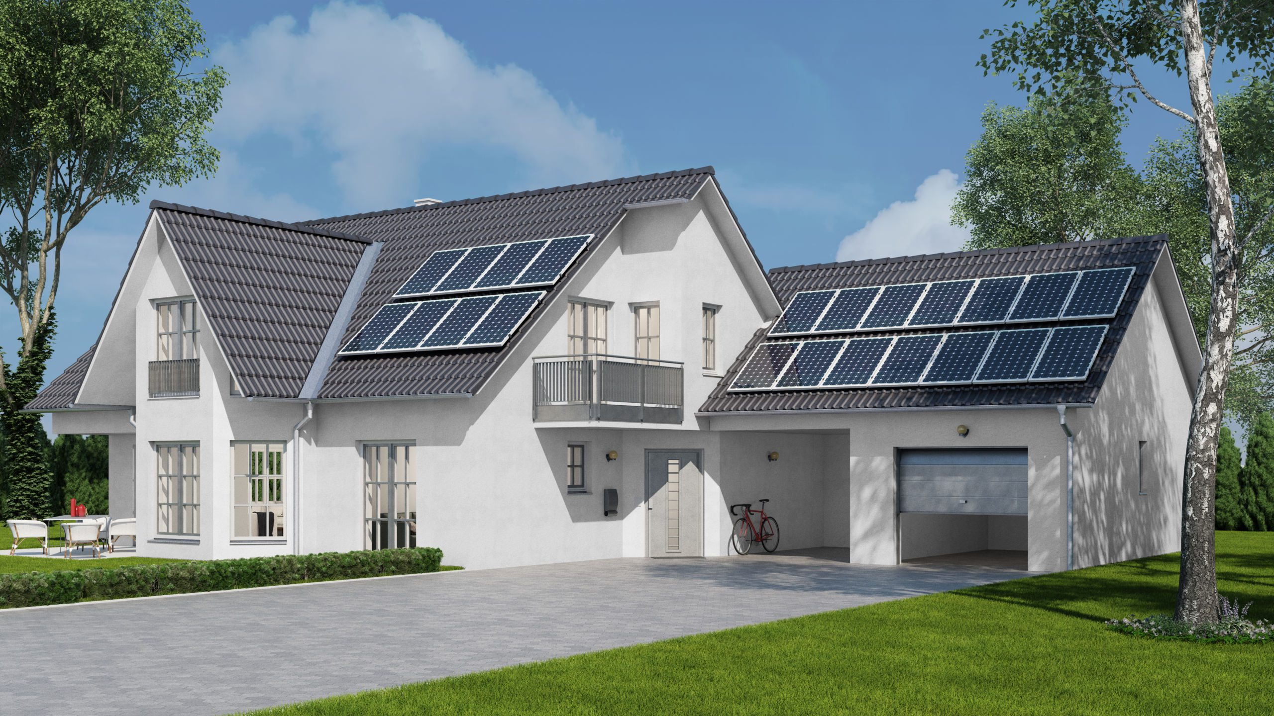 Solar Panel Roofing On Residential Home - Eco Friendly Roofing